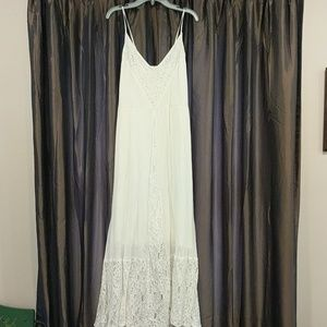 Abercrombie & Fitch white lace and gauze dress